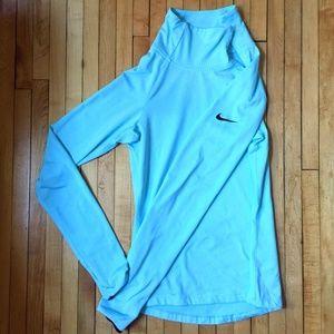 Nike pro fleeced dri fit long sleeved turtleneck